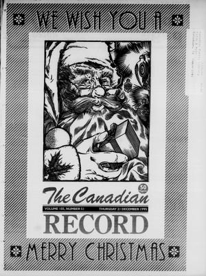 Primary view of object titled 'The Canadian Record (Canadian, Tex.), Vol. 105, No. 51, Ed. 1 Thursday, December 21, 1995'.