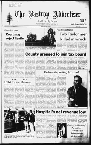 Primary view of object titled 'The Bastrop Advertiser and County News (Bastrop, Tex.), No. 76, Ed. 1 Monday, November 24, 1980'.