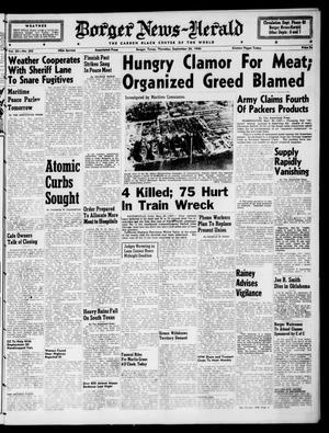 Borger News-Herald (Borger, Tex.), Vol. 20, No. 262, Ed. 1 Thursday, September 26, 1946