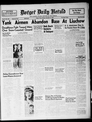 Borger Daily Herald (Borger, Tex.), Vol. 18, No. 305, Ed. 1 Monday, November 13, 1944