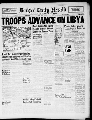 Borger Daily Herald (Borger, Tex.), Vol. 16, No. 303, Ed. 1 Tuesday, November 10, 1942