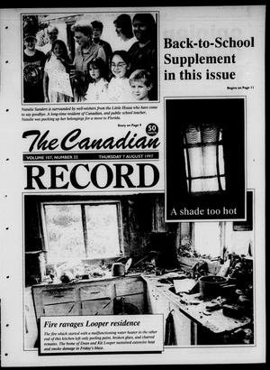 Primary view of object titled 'The Canadian Record (Canadian, Tex.), Vol. 107, No. 32, Ed. 1 Thursday, August 7, 1997'.