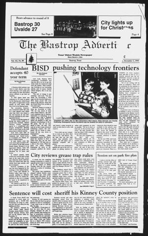 Primary view of object titled 'The Bastrop Advertiser (Bastrop, Tex.), Vol. 142, No. 80, Ed. 1 Saturday, December 2, 1995'.