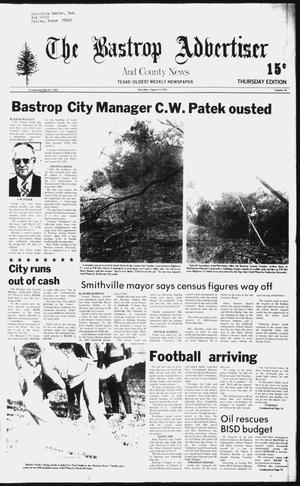 Primary view of object titled 'The Bastrop Advertiser and County News (Bastrop, Tex.), No. 48, Ed. 1 Thursday, August 14, 1980'.