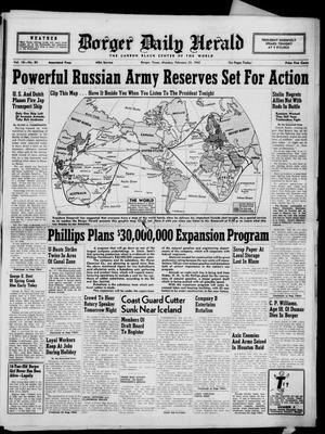 Borger Daily Herald (Borger, Tex.), Vol. 16, No. 80, Ed. 1 Monday, February 23, 1942
