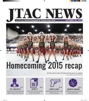 Primary view of object titled 'JTAC News (Stephenville, Tex.), Ed. 1 Monday, October 26, 2015'.
