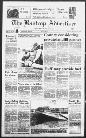 Primary view of object titled 'The Bastrop Advertiser (Bastrop, Tex.), Ed. 1 Thursday, December 13, 1990'.