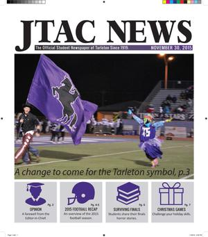 Primary view of object titled 'JTAC News (Stephenville, Tex.), Ed. 1 Monday, November 30, 2015'.