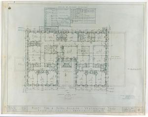 Primary view of object titled 'Weatherford Hotel, Weatherford, Texas: Second Floor Plan'.