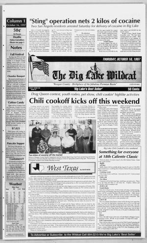 Primary view of object titled 'The Big Lake Wildcat (Big Lake, Tex.), Vol. SEVENTY-SECOND YEAR, No. 42, Ed. 1 Thursday, October 16, 1997'.