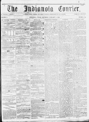 Primary view of object titled 'The Indianola Courier. (Indianola, Tex.), Vol. 3, No. 35, Ed. 1 Saturday, January 5, 1861'.