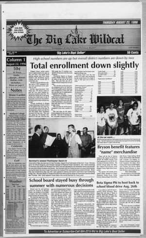 The Big Lake Wildcat (Big Lake, Tex.), Vol. SEVENTY FIRST YEAR, No. 34, Ed. 1 Thursday, August 22, 1996