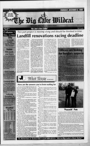 The Big Lake Wildcat (Big Lake, Tex.), Vol. SEVENTY THIRD YEAR, No. 49, Ed. 1 Thursday, December 3, 1998