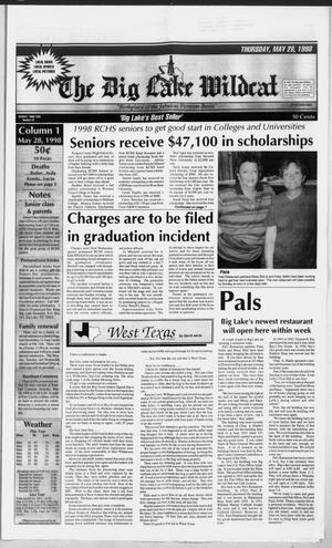 The Big Lake Wildcat (Big Lake, Tex.), Vol. SEVENTY-THIRD YEAR, No. 22, Ed. 1 Thursday, May 28, 1998