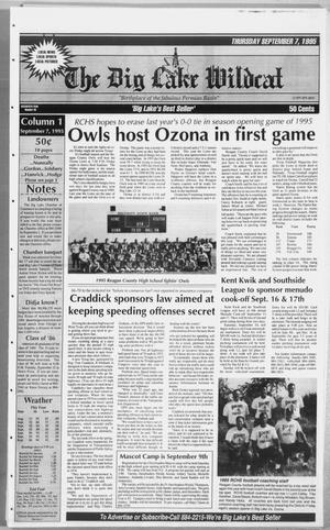 The Big Lake Wildcat (Big Lake, Tex.), Vol. SEVENTIETH YEAR, No. 36, Ed. 1 Thursday, September 7, 1995