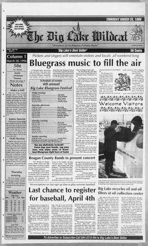 The Big Lake Wildcat (Big Lake, Tex.), Vol. SEVENTY FIRST YEAR, No. 13, Ed. 1 Thursday, March 28, 1996