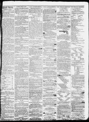 Primary view of object titled 'The Indianola Bulletin. (Indianola, Tex.), Vol. 1, No. 17, Ed. 1 Saturday, August 11, 1855'.