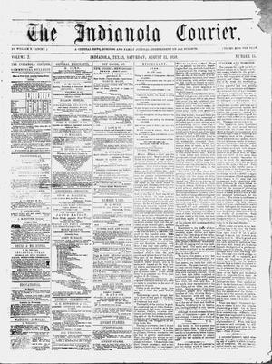 The Indianola Courier. (Indianola, Tex.), Vol. 2, No. 15, Ed. 1 Saturday, August 13, 1859