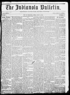 The Indianola Bulletin. (Indianola, Tex.), Vol. 1, No. 13, Ed. 1 Friday, July 6, 1855