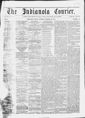 The Indianola Courier. (Indianola, Tex.), Vol. 2, No. 25, Ed. 1 Saturday, October 22, 1859