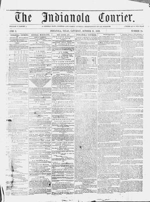 Primary view of object titled 'The Indianola Courier. (Indianola, Tex.), Vol. 2, No. 24, Ed. 1 Saturday, October 15, 1859'.