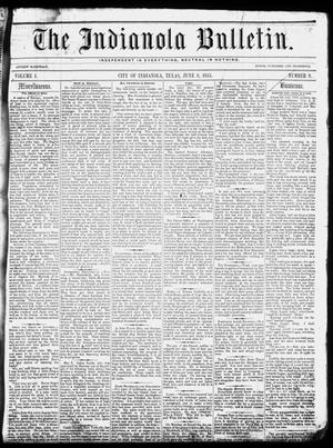 Primary view of object titled 'The Indianola Bulletin. (Indianola, Tex.), Vol. 1, No. 9, Ed. 1 Friday, June 8, 1855'.