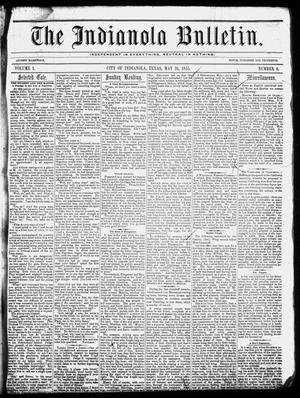 The Indianola Bulletin. (Indianola, Tex.), Vol. 1, No. 8, Ed. 1 Thursday, May 31, 1855