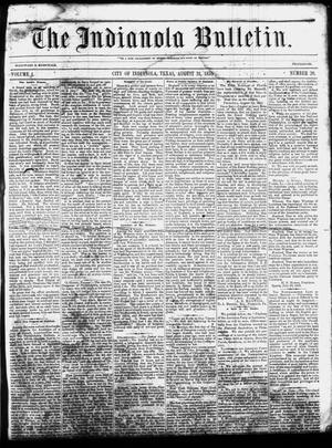 Primary view of The Indianola Bulletin. (Indianola, Tex.), Vol. 1, No. 20, Ed. 1 Friday, August 31, 1855