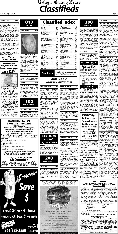 refugio county press refugio tex vol 52 no 1 ed 1 thursday