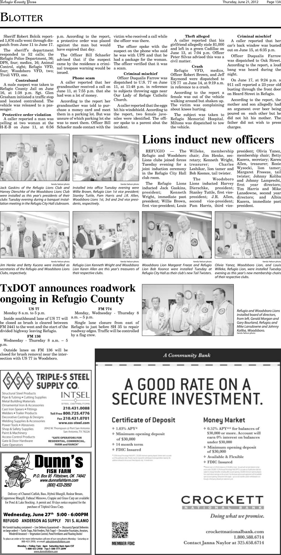 Refugio County Press (Refugio, Tex ), Vol  52, No  46, Ed  1
