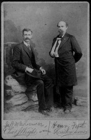[Photograph of Jeff McLemore and Henry Frost]