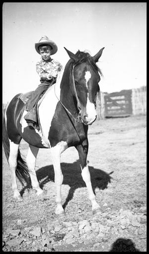 Primary view of object titled '[Boy on a Horse]'.