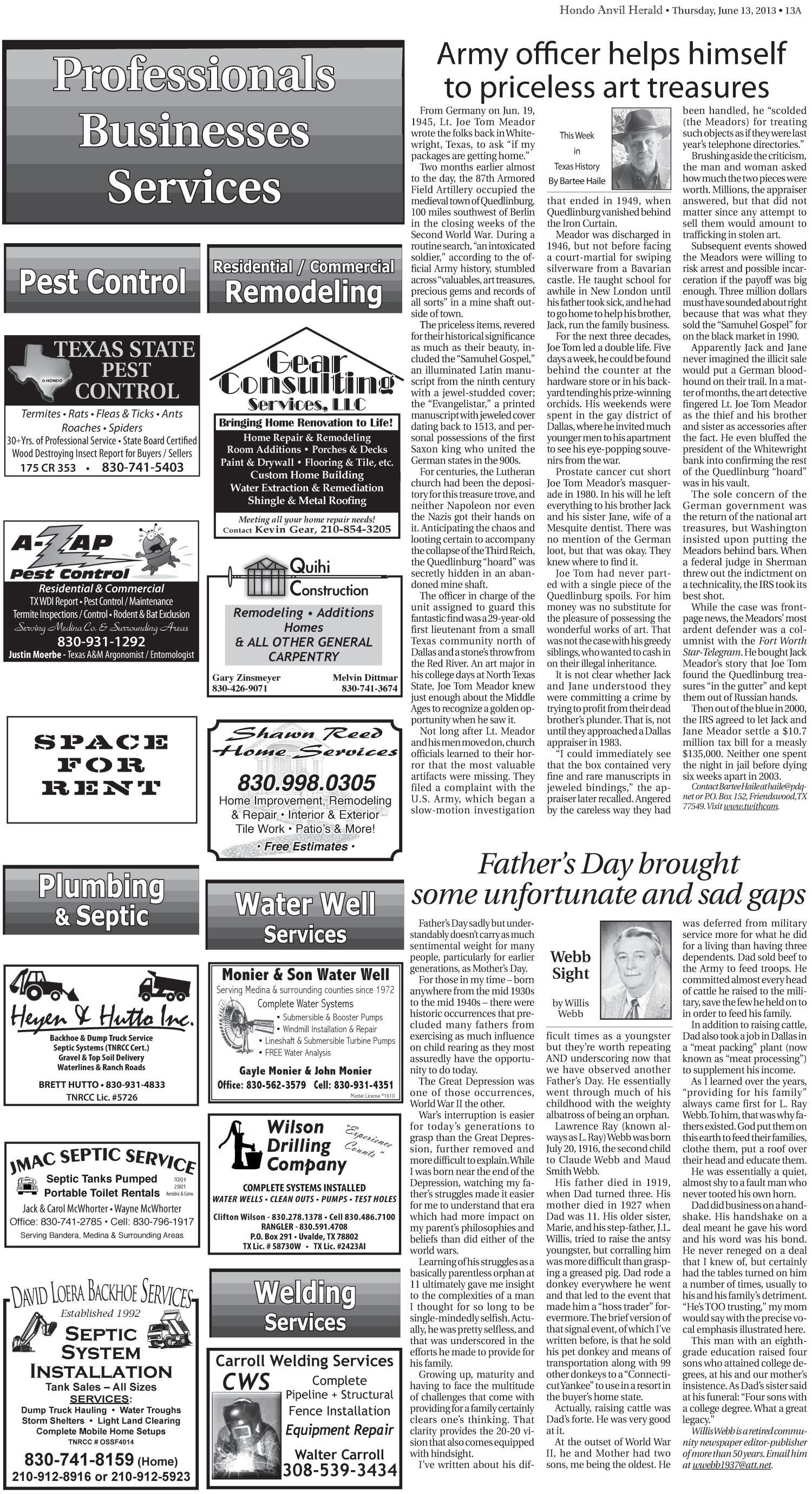 Hondo Anvil Herald (Hondo, Tex ), Vol  127, No  25, Ed  1 Thursday