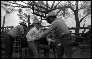 Primary view of object titled '[Cowboys Working Branding Table]'.