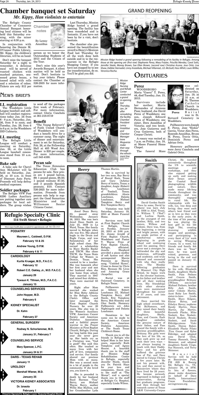 Refugio County Press (Refugio, Tex.), Vol. 53, No. 25, Ed. 1 ...
