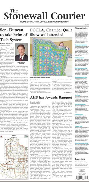 The Stonewall Courier (Aspermont, Tex.), Vol. 27, No. 16, Ed. 1 Thursday, May 22, 2014