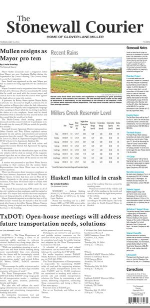 The Stonewall Courier (Aspermont, Tex.), Vol. 27, No. 19, Ed. 1 Thursday, June 12, 2014