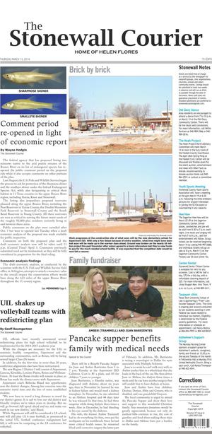 The Stonewall Courier (Aspermont, Tex.), Vol. 27, No. 6, Ed. 1 Thursday, March 13, 2014