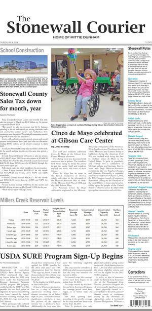 The Stonewall Courier (Aspermont, Tex.), Vol. 27, No. 14, Ed. 1 Thursday, May 8, 2014