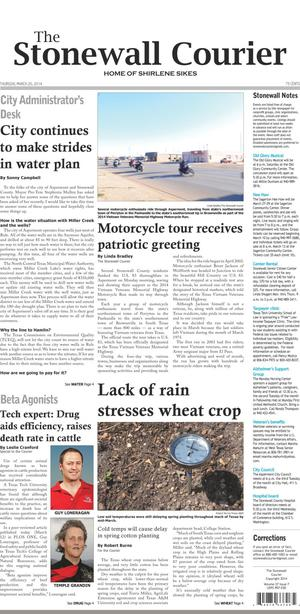 The Stonewall Courier (Aspermont, Tex.), Vol. 27, No. 7, Ed. 1 Thursday, March 20, 2014