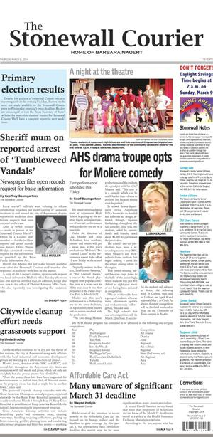 The Stonewall Courier (Aspermont, Tex.), Vol. 27, No. 5, Ed. 1 Thursday, March 6, 2014