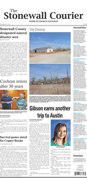 The Stonewall Courier (Aspermont, Tex.), Vol. 27, No. 13, Ed. 1 Thursday, May 1, 2014