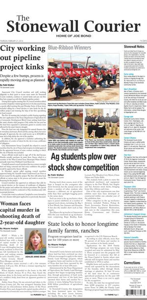 The Stonewall Courier (Aspermont, Tex.), Vol. 27, No. 4, Ed. 1 Thursday, February 27, 2014