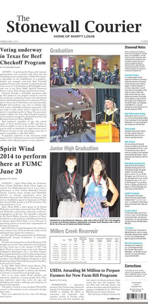 The Stonewall Courier (Aspermont, Tex.), Vol. 27, No. 18, Ed. 1 Thursday, June 5, 2014