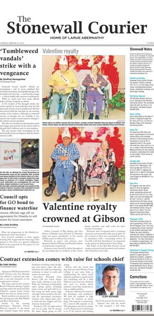 The Stonewall Courier (Aspermont, Tex.), Vol. 27, No. 3, Ed. 1 Thursday, February 20, 2014