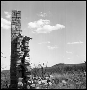 Primary view of object titled '[Partially Collapsed Stone Structure]'.