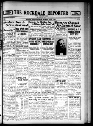 Primary view of The Rockdale Reporter and Messenger (Rockdale, Tex.), Vol. 69, No. 30, Ed. 1 Thursday, August 28, 1941