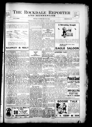 Primary view of The Rockdale Reporter and Messenger (Rockdale, Tex.), Vol. 37, No. 26, Ed. 1 Thursday, September 1, 1910