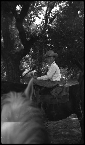 Primary view of object titled '[Boy Riding a Horse]'.