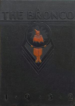 The Bronco, Yearbook of Denton High School, 1932